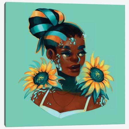 Turquoise 3-Piece Canvas #GEB56} by Geneva B Canvas Print