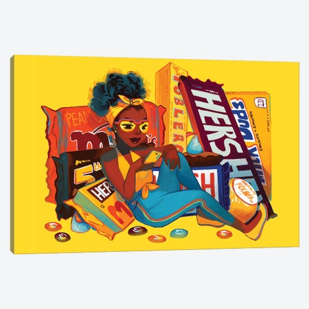 Chocolat  Canvas Print #GEB60} by Geneva B Canvas Print