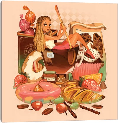 Tea With Sweets Canvas Art Print