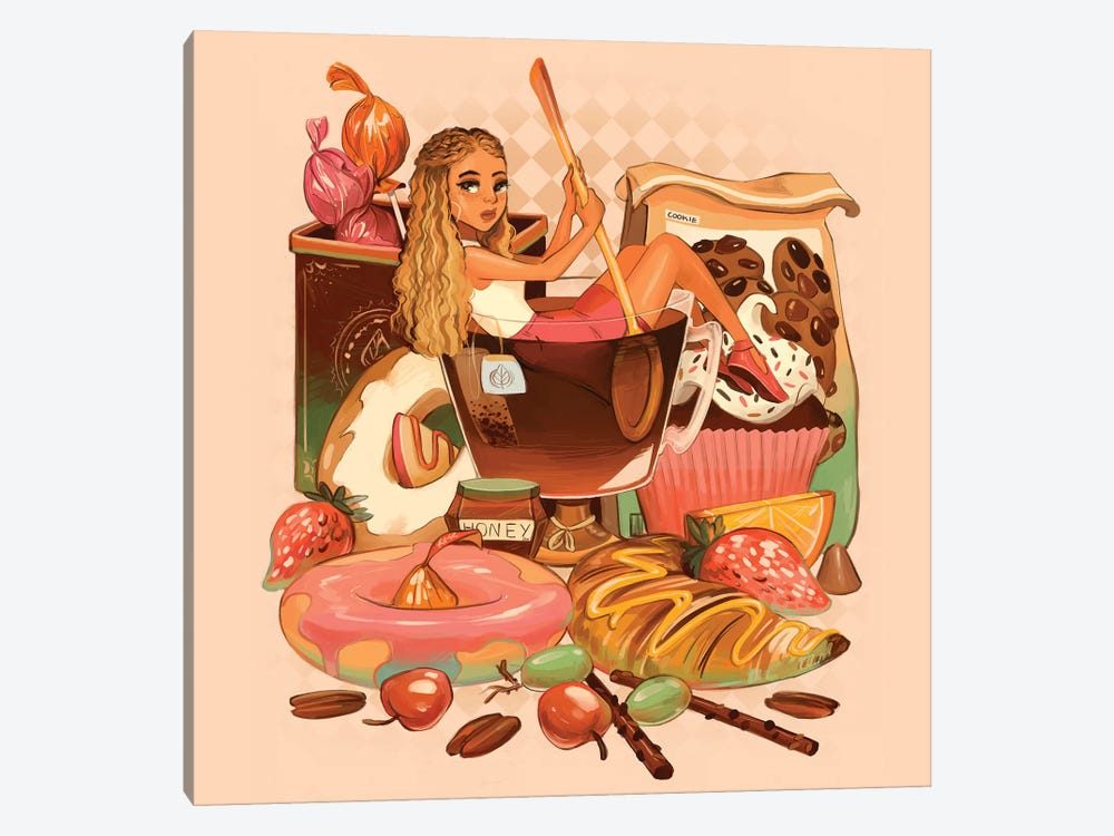 Tea With Sweets by Geneva B 1-piece Canvas Art Print