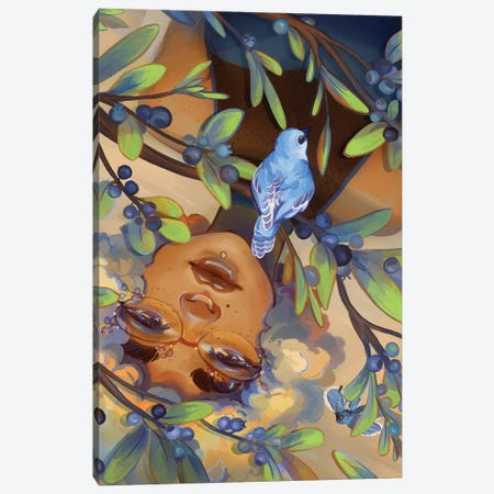 Blueberries Canvas Print #GEB6} by Geneva B Canvas Wall Art