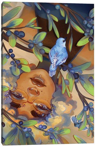 Blueberries Canvas Art Print