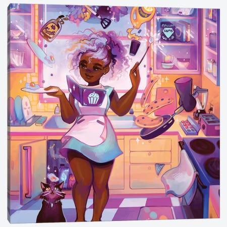 Breakfast Canvas Print #GEB8} by Geneva B Art Print