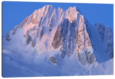 Snow-Covered Peaks Of Takhinsha Mountains, Glacier Bay National Park And Preserve, Alaska Canvas Art Print