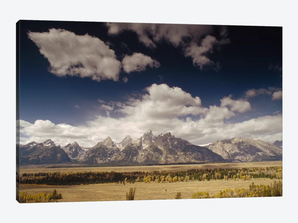 Teton Range, Snake River Valley, Grand Teton National Park, Wyoming by Gerry Ellis 1-piece Canvas Print