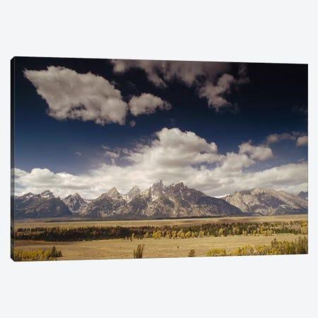 Teton Range, Snake River Valley, Grand Teton National Park, Wyoming 3-Piece Canvas #GEE28} by Gerry Ellis Canvas Art