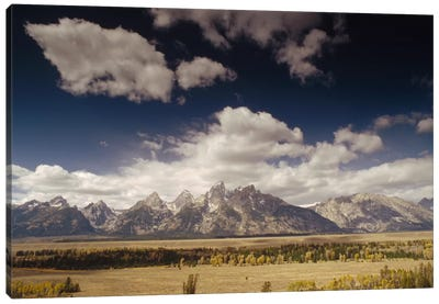 Teton Range, Snake River Valley, Grand Teton National Park, Wyoming Canvas Art Print