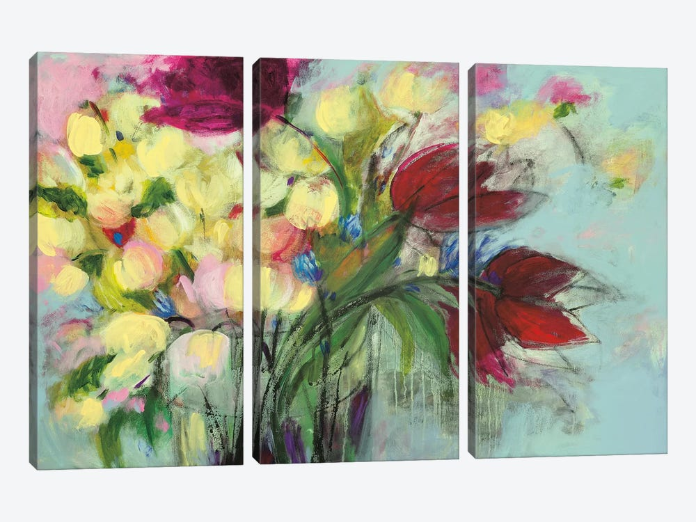 Wendy's Bouquet by Georgia Eider 3-piece Canvas Artwork