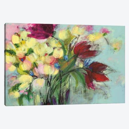 Wendy's Bouquet 3-Piece Canvas #GEI6} by Georgia Eider Canvas Art Print