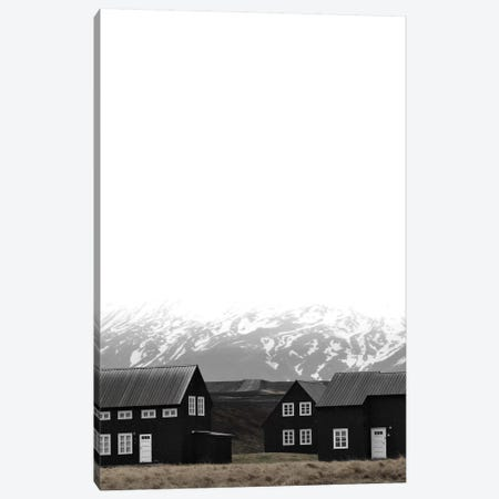Black Houses Of Iceland I Canvas Print #GEL102} by Monika Strigel Canvas Artwork