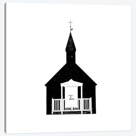 Black Church III Iceland Budir Square Canvas Print #GEL106} by Monika Strigel Canvas Art Print