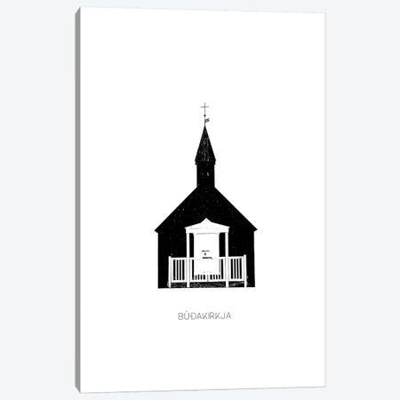 Black Church III Iceland Budir Canvas Print #GEL107} by Monika Strigel Canvas Art Print
