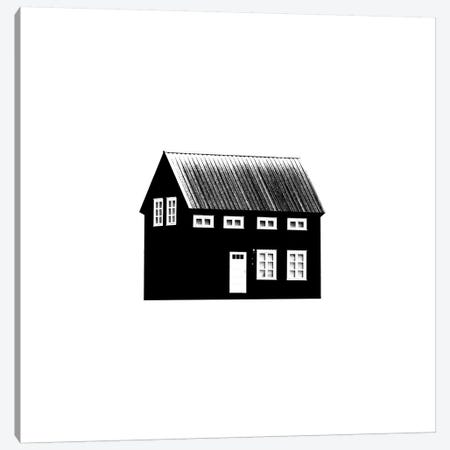 Black House II In Iceland Square Canvas Print #GEL113} by Monika Strigel Art Print