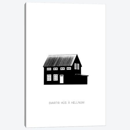 Black House In Iceland Canvas Print #GEL115} by Monika Strigel Canvas Artwork