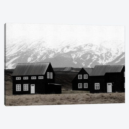 Black Houses Of Iceland II Canvas Print #GEL117} by Monika Strigel Canvas Artwork