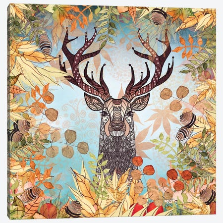 Autumn Stag  Canvas Print #GEL13} by Monika Strigel Canvas Art