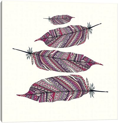 Aztec Feathers II Canvas Art Print