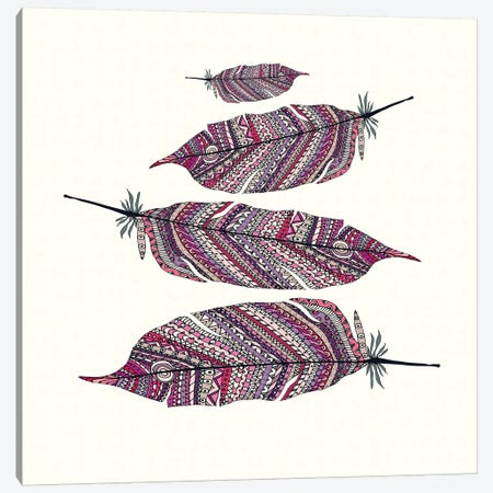 Aztec Feathers II Canvas Print #GEL14} by Monika Strigel Art Print