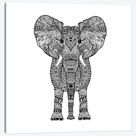 Aztec Elephant Canvas Print #GEL15} by Monika Strigel Art Print