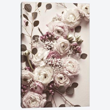Flat Lay Flowers Canvas Print #GEL167} by Monika Strigel Canvas Print