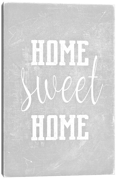 Home Sweet Home Light Grey Canvas Art Print