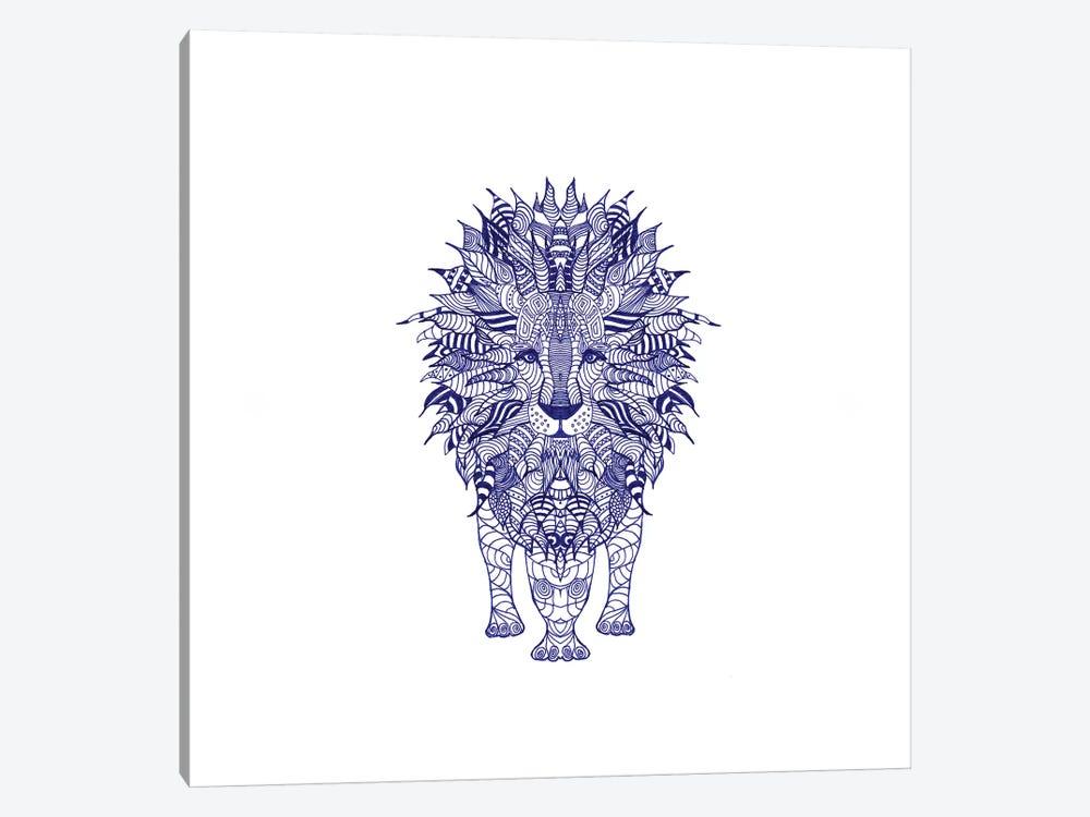 Blue Lion by Monika Strigel 1-piece Canvas Art