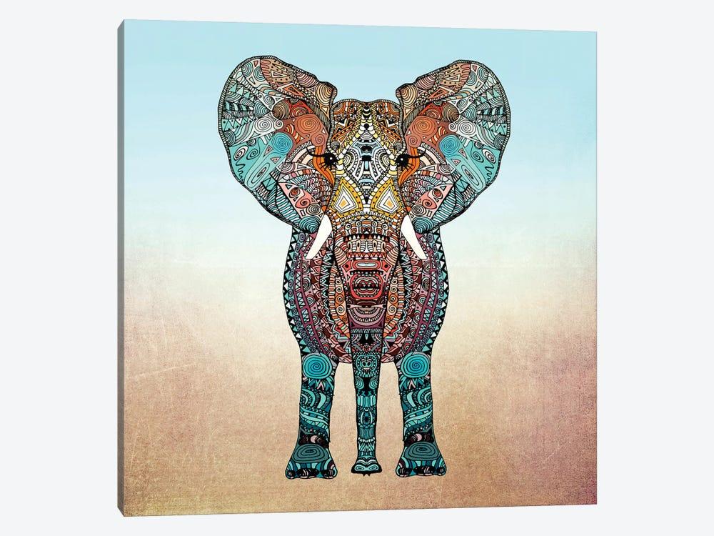 Boho Summer Elephant by Monika Strigel 1-piece Canvas Art Print