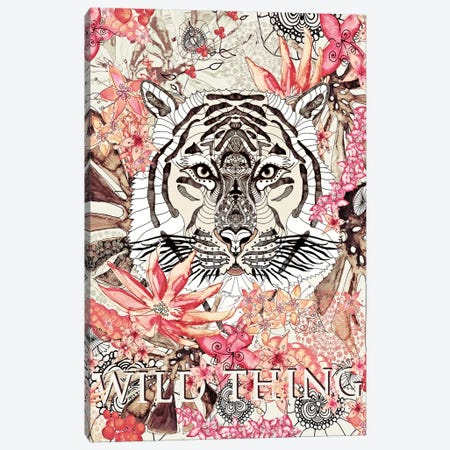 Wild Thing Vintage Canvas Print #GEL1} by Monika Strigel Canvas Art Print
