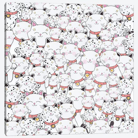 Find The Panda Canvas Print #GEL22} by Monika Strigel Art Print