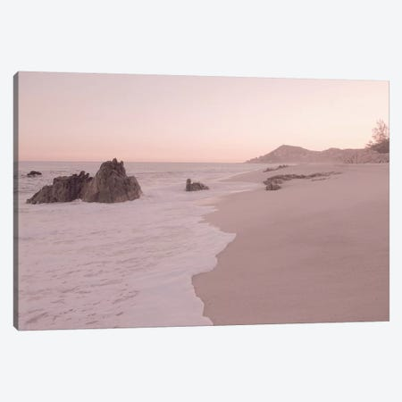 Rosegold Beach Morning Canvas Print #GEL250} by Monika Strigel Canvas Artwork