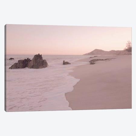 Rosegold Beach Morning Canvas Print #GEL250} by Monika Strigel Canvas Artwork