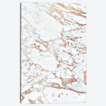 Rosegold Marble Canvas Print #GEL252} by Monika Strigel Canvas Wall Art
