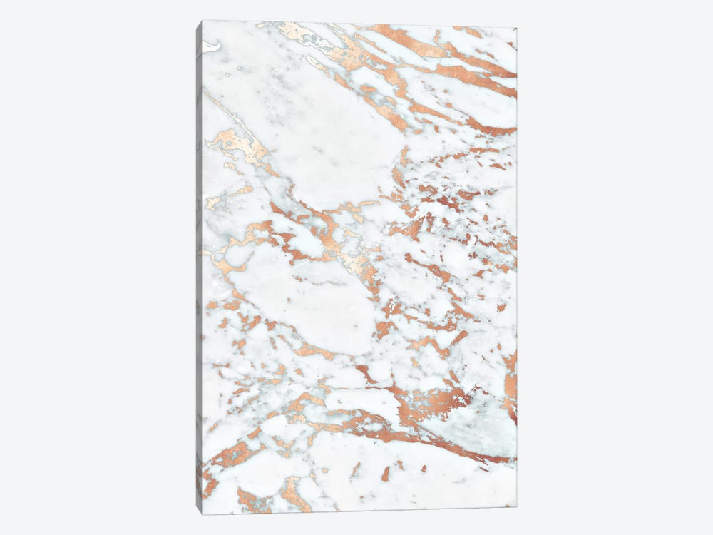 Rosegold Marble by Monika Strigel 1-piece Canvas Art Print