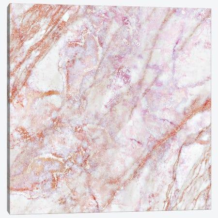 Rose Marble Square Canvas Print #GEL253} by Monika Strigel Canvas Wall Art