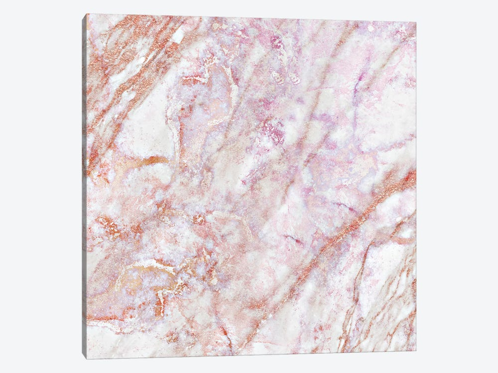 Rose Marble Square by Monika Strigel 1-piece Canvas Wall Art