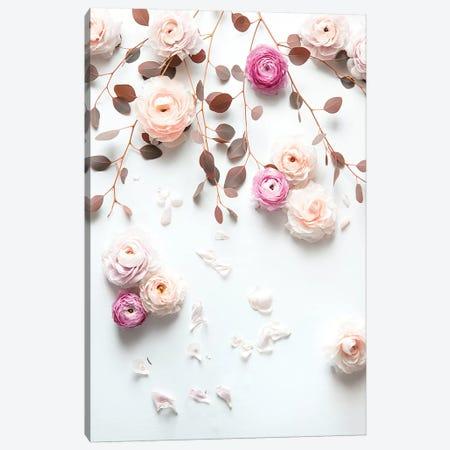 Spring Flowers Bouquet Roses 3-Piece Canvas #GEL276} by Monika Strigel Canvas Art Print