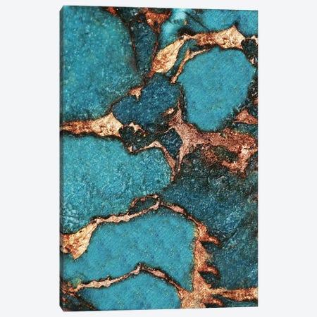 Gemstone And Gold - Dark Aqua Canvas Print #GEL27} by Monika Strigel Canvas Artwork