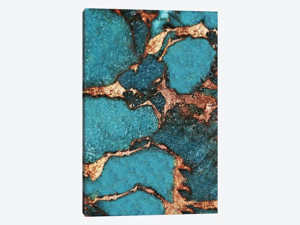 Gemstone And Gold - Dark Aqua by Monika Strigel 1-piece Canvas Artwork