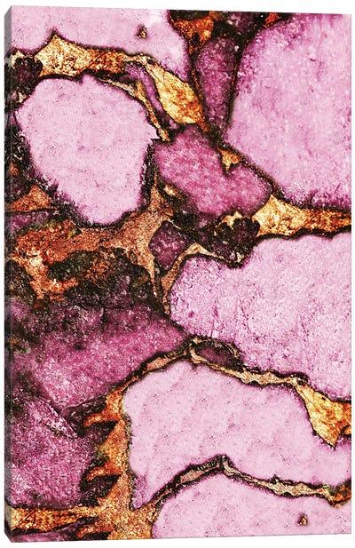 Gemstone And Gold - Dark Pink Canvas Art Print