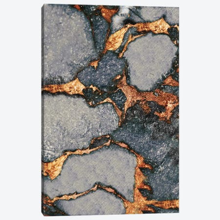 Gemstone And Gold - Grey Canvas Print #GEL29} by Monika Strigel Canvas Print