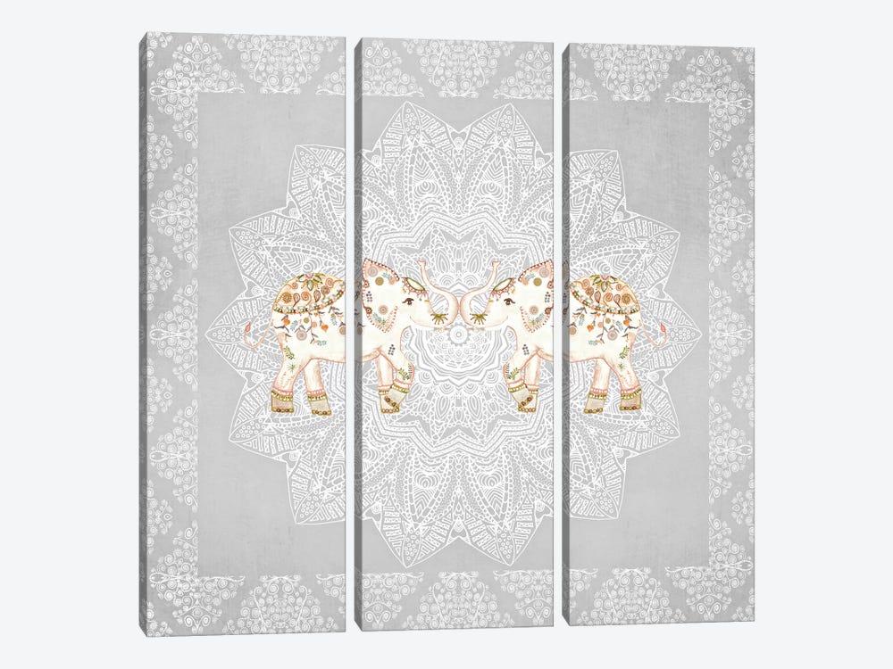 Alhambra Elephants by Monika Strigel 3-piece Canvas Art Print
