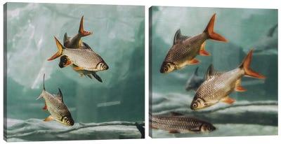 The Swarm Diptych Canvas Art Print