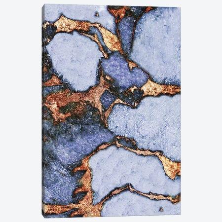 Gemstone And Gold - Pastel Baby Blue 3-Piece Canvas #GEL31} by Monika Strigel Canvas Wall Art