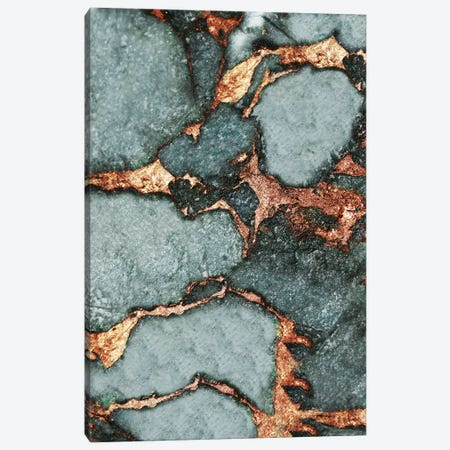 Gemstone And Gold - Pastel Blue Grey Canvas Print #GEL32} by Monika Strigel Canvas Artwork