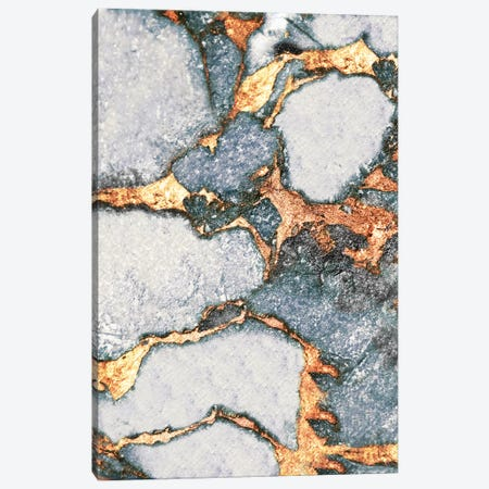 Gemstone And Gold - Pastel Grey Canvas Print #GEL33} by Monika Strigel Canvas Artwork
