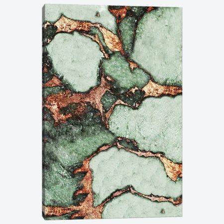 Gemstone And Gold - Pea Green Canvas Print #GEL38} by Monika Strigel Canvas Wall Art