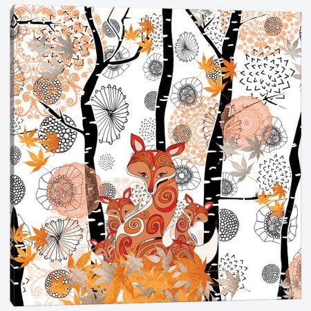 Hello Fox Canvas Print #GEL40} by Monika Strigel Art Print