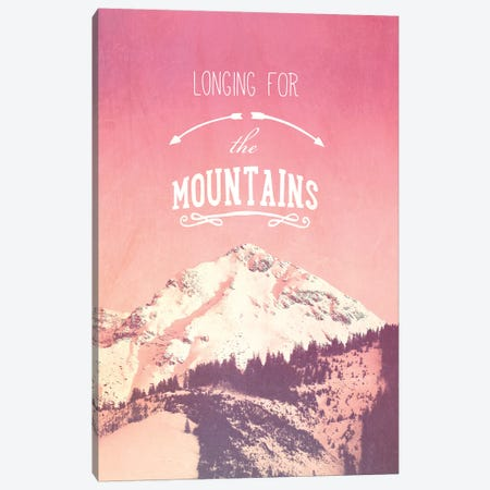 Longing For The Mountains Canvas Print #GEL42} by Monika Strigel Art Print