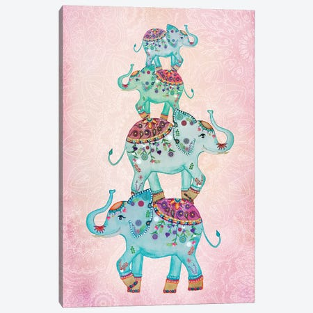 Lucky Elephants Canvas Print #GEL43} by Monika Strigel Canvas Print