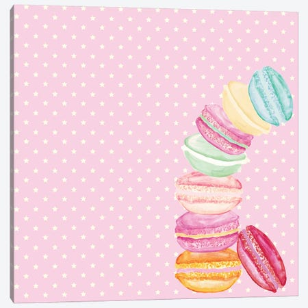Macarons And Stars Canvas Print #GEL44} by Monika Strigel Canvas Wall Art